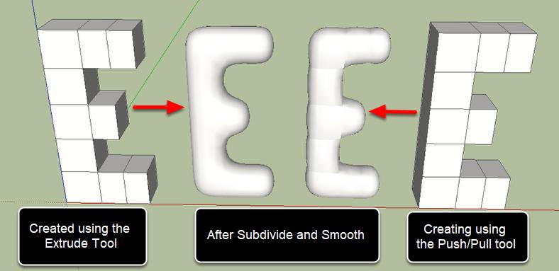 Extrude vs Push/Pull